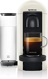 NESPRESSO Cafetera VertuoPlus, Color Blanca (Incluye obsequio de 12 cápsulas de café)