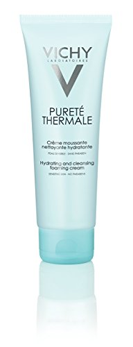 Vichy Pureté Thermale Hydrating Foaming Cream Facial Cleanser, Paraben-Free, Alcohol-Free, 4.2 Fluid Ounce