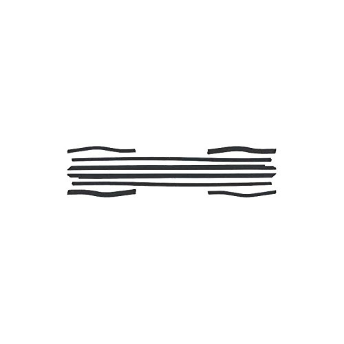 - MACs Auto Parts 44-38654 - Mustang Belt Weatherstrip Kit with Black Beads