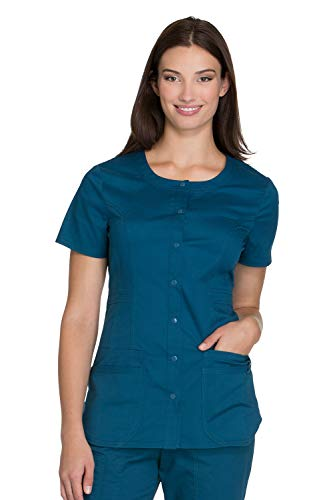 - Cherokee Core Stretch by Workwear Women's Round Neck Solid Scrub Top CARW XX-Large