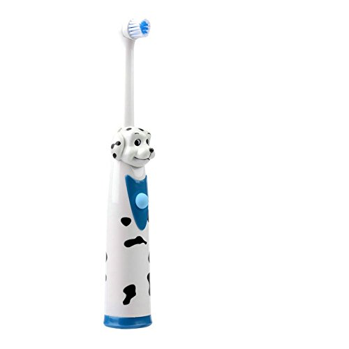 Hot Sales Children Cartoon Pattern Electric Toothbrush Oral Hygiene Electric Massage Teeth Care Kids Toothbrush Cleanser Includes 2 Sensitive Clean Refills (puppy)