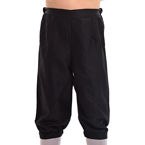 Adult Male Black Costumes Pants (BLESSUME Retro Colonial Men Pants)