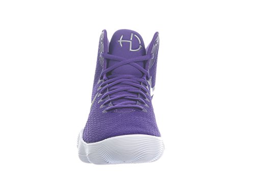 Nike Mens Hyperdunk 2017 Scarpa Da Basket Corte Viola / Argento Metallizzato / Bianco