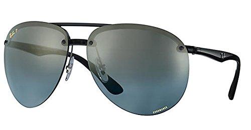 Ray-Ban Men's 0rb4293ch876/j064plastic Man Polarized Iridium Aviator Sunglasses, Grey, 65 - Sunglasses Ray Rimless Aviator Ban