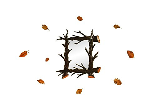 "Autum Branches a modern decorative wall art Mirror (17""x18"") - by Marvellous Mirrors"