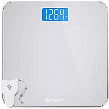 . Etekcity Digital Body Weight Bathroom Scale with Body Tape Measure and  Round Corner Design  Large Blue