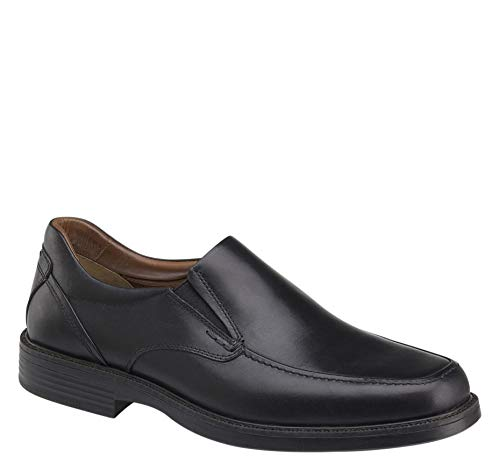 Black Calfskin Loafer Shoes - Johnston & Murphy Men's XC4 Stanton Moc Venetian Shoe Black Waterproof Calfskin 9 M/W US