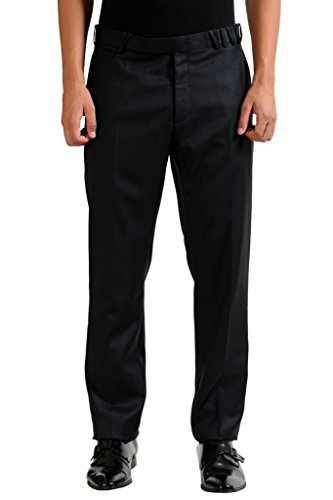 Christian Dior Men's 100% Wool Off Black Dress Pants US 32 IT 48; - Christian Dior Mens Clothing