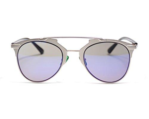 sol cat hombre de eye mujer Azul Gafas Jee Plateado J8028 w5EtXX