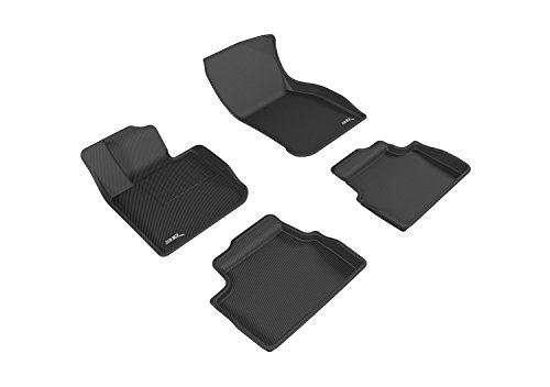 3D MAXpider Complete Set Custom Fit All-Weather Floor Mat for Select Mini Hardtop 4-Door Models - Kagu Rubber (Black)
