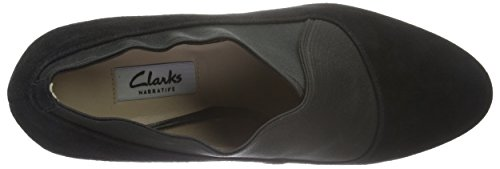 de Negro Black Para Tacón Mix Clarks Suede Mujer Zapatos Kendra qx8BO0t