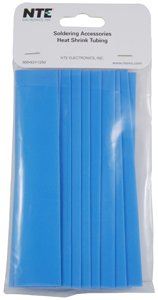 nte-electronics-47-20906-bl-heat-shrink-tubing-thin-wall-21-shrink-ratio-3-4-diameter-6-length-blue-