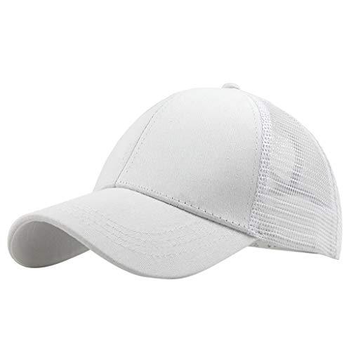 Amober Ponytail Messy Buns Trucker Plain Baseball Visor Cap Unisex Hat - Snowboard New Trucker Hat