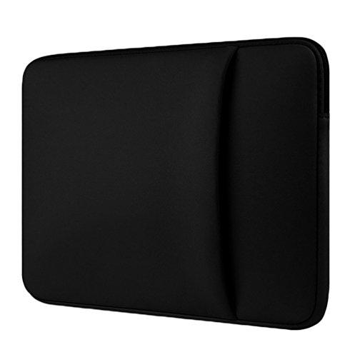 YiJee Fundas para Portatil Funda Blanda Bolso Sleeve para Ordenador Portátil 15.6 Pulgada Negro 1