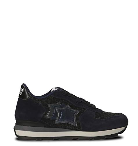 Tessuto Vegaany81n Atlantic Donna Sneakers Blu Stars wwIqW1aST
