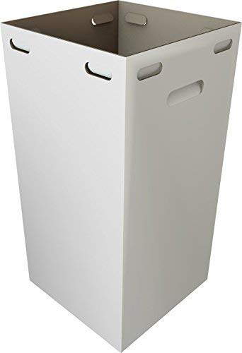One Earth Disposable and Reusable Corrugated Cardboard Trash Cans- Bundle of 10 Boxes + 20 Trash Bags (White): 40 Gallons