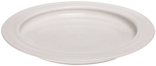 SP Ableware Inner-Lip Plastic Plate, Sandstone, 12-Pack (745310012) by Maddak Inc. (Image #1)