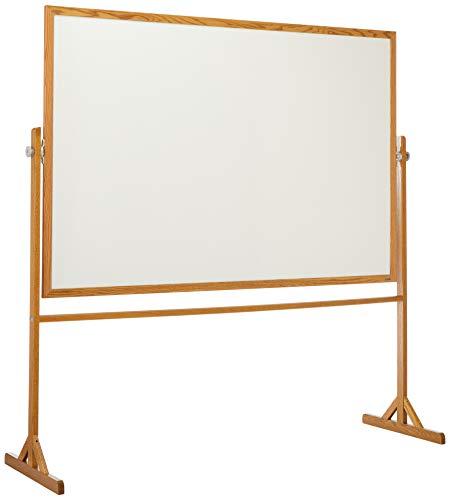 Quartet Reversible Easel - Whiteboard/Bulletin Board, 4 feet x 6 feet, Hardwood Frame -