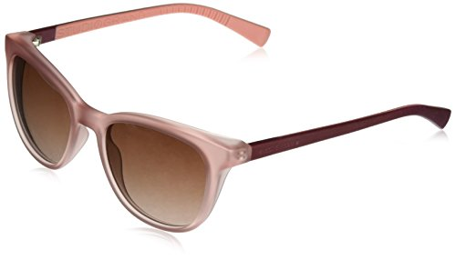 Cole Haan Women's Ch7029 Plastic Cateye Sunglasses, Matte Crystal Rose, 53 ()