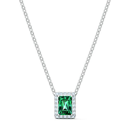 SWAROVSKI Women's Angelic Necklace & Bracelet Green and White Crystal Jewelry Collection