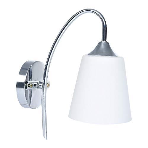 Sonmer Indoor Wall Light, Fixture Modern Bedroom Bedside Lamp, Glass Shade White, E27 Base,LED Modern Light Home Decor (Glass Bedrooms)
