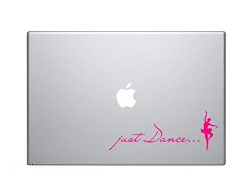 Just Dance Ballerina Dancer Vinyl Car Sticker Symbol Silhouette Keypad Track Pad Decal Laptop Skin Ipad Macbook Window Truck Motorcycle, Decal Sticker Vinyl Car Home Truck Window Laptop