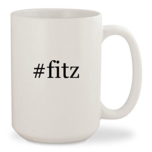 #fitz - White Hashtag 15oz Ceramic Coffee Mug Cup