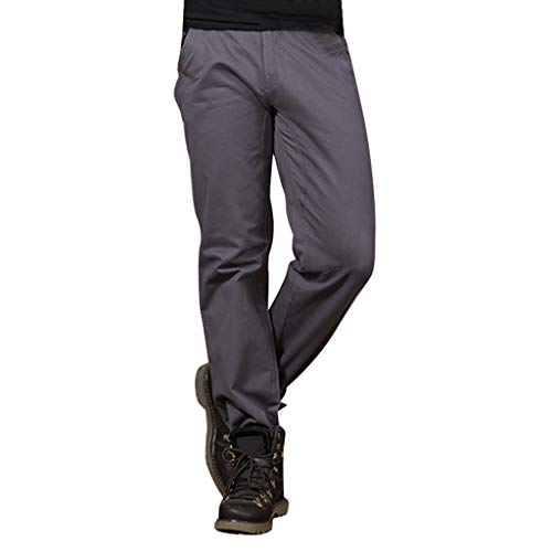 LUCAMORE Tactical Pants Mens Solid Cotton Cargo Trousers Straight Barrel Outdoor Pants - Plaid Bermuda Madras Shorts