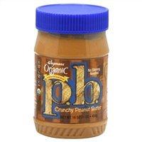 Wegmans Organic Peanut Butter, Crunchy 16 Oz. (Pack of 2)