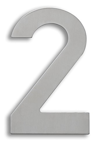 XAPTOVi – Número de casa de acero inoxidable – 15 cm – XL inoxidables, números para casa de 0 a 9 – Dutch Quality, Plateado