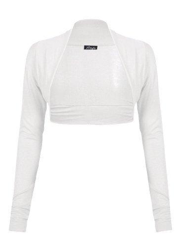 Femmes-Manches-Longues-Plaine-Taille-Plus-Bolero-Haussement-Cardigan-Top