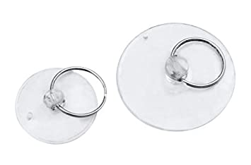 50 mm 200 Stück Saughaken Saug Napf Saugnapf Saugknopf transparent Ø 30-40