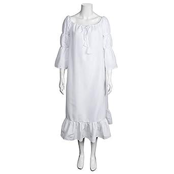 6b4098d012c Amazon.com  Medieval Renaissance Boho Chemise Women Plus Size Pirate Peasant  Wench Costume Dress  Clothing