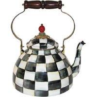 Courtly Check Enamel 3 Qt Tea Kettle by MacKenzie-Childs Ltd
