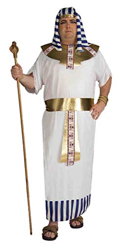 Forum Novelties Men's Pharaoh Costume, Blue/White/Gold, Plus