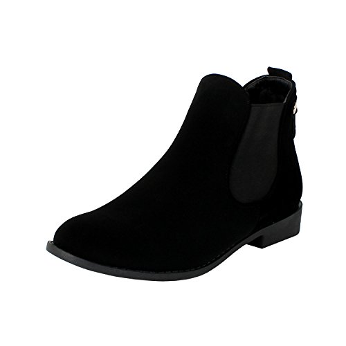Top Moda Women's La-5 Slip-On Low Heel Ankle Boot