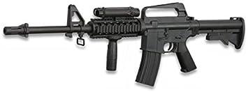 Cuchillería Deportiva Arma Larga Airsoft de Aire Suave Cyma Mini, 85 x 27 cm, Sistema de Muelle, munición Bolas PVC 6 mm - Arma para Airsoft, carabina M4, M16, M4A1, Ideal para iniciados y Veteranos.