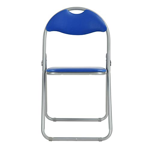 - ECBERIE Stainless Steel Folding Chair Office Meeting Training Chair Computer Chair Activity Chair Simple Meeting Place Chair Stool Fashion and Creativity are Easy to Carry (Blue)