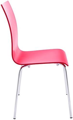 Alterego Chaise de Salle à Manger Design 'Espera' en Bois Rouge