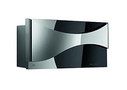 Vertikale wandhaube der oberste klasse galvamet ambient 90 f black