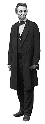 Aahs Engraving President Abraham Lincoln Life Size Cardboard Stand Up, Without Hat, 6 feet - Lincoln Life Professional