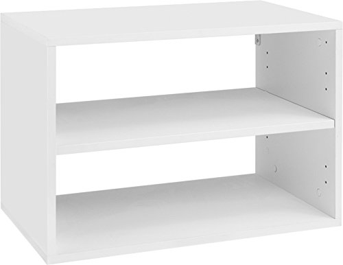Organized Living freedomRail 1 Shelf OBox - White