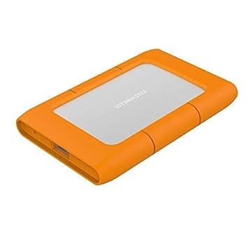 Yottamaster 2.5inch USB 3.1 Tipo C Caja/Cargador de Disco Duro Externo con 2.5mm Funda de Silicona 9.5mm / 7mm SATA HDD/SSD 2TB - Orange [Aluminio y ...