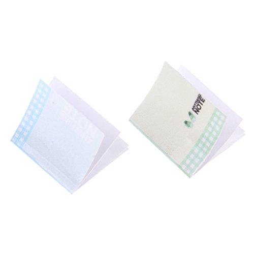Perfk 全2点 青/緑 1/12ドールハウス装飾 ミニチュア オフィス スクール ノートブックモデル の商品画像
