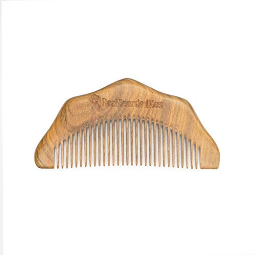 Real Bearded Men Sandalwood Beard Comb – Anti-Static Wooden Pocket Beard Comb