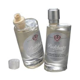 """Prelibato - white dressing - aged 5 - 6,8 oz. (200 ml) 1 white balsamic condiment (vinegar). Aged 5 years """"prelibato"""" is natural, we do not add other ingredients, it contains most of grape suggested for use on all types of fish, mollusks, caviar, and fresh fruit."""