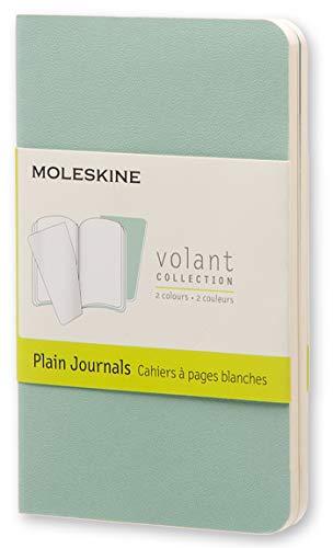Moleskine Volant Journal, Soft Cover, XS (2.5 x 4) Plain/Blank, Sage Green (Set of 2)