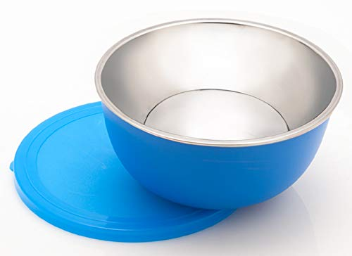 Signoraware Classic Microwave Safe Steel Bowl 2ltr, Blue