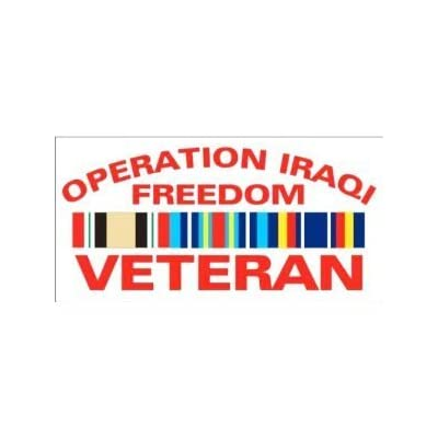 Operation Iraqi Freedom Campaign Ribbon Veteran - Window Decal Sticker: Automotive