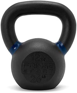 Fringe Sport Matte Black One-Piece Kettlebell Crossfit, Strength Training Conditioning Equipment